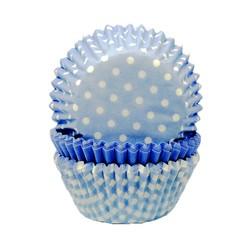 compra en línea Moldes de papel para cupcakes azul claro (Ø7,5 x 6,2 cm)