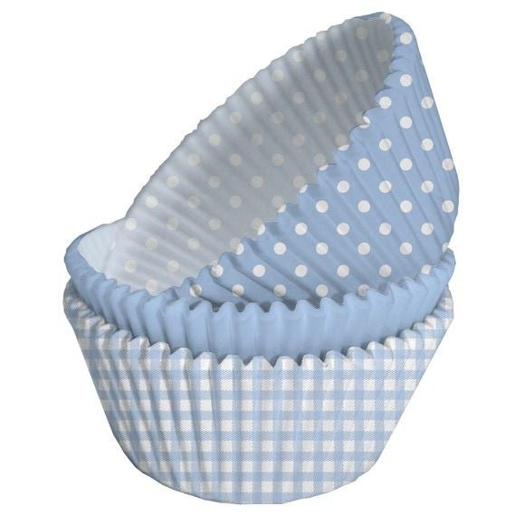 Caissettes à cupcakes baby boy bleu en papier