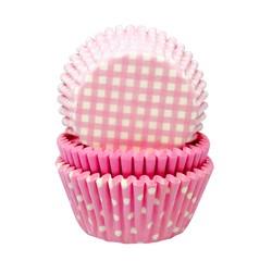 compra en línea Moldes de papel para cupcakes rosa claro (Ø7,5 x 6,2 cm)