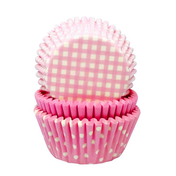 Caissettes à cupcakes baby girl rose en papier