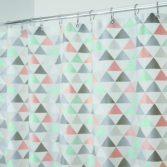 INTERDESIGN - Rideau de douche 100% PEVA Triangles 183x183cm