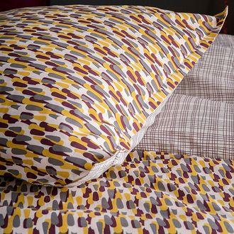 Maom - taie d'oreiller rectangle en percale terre rouge carillon 50x70cm