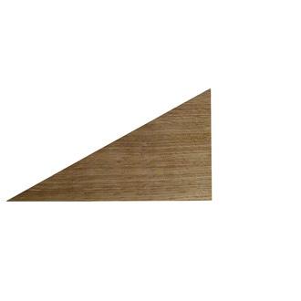 Equerre triangle chêne 17x9cm