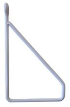 Achat en ligne Equerre filaire métal blanc pour tablette 19cm