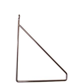 Equerre filaire métal cuivre pour tablette 19cm