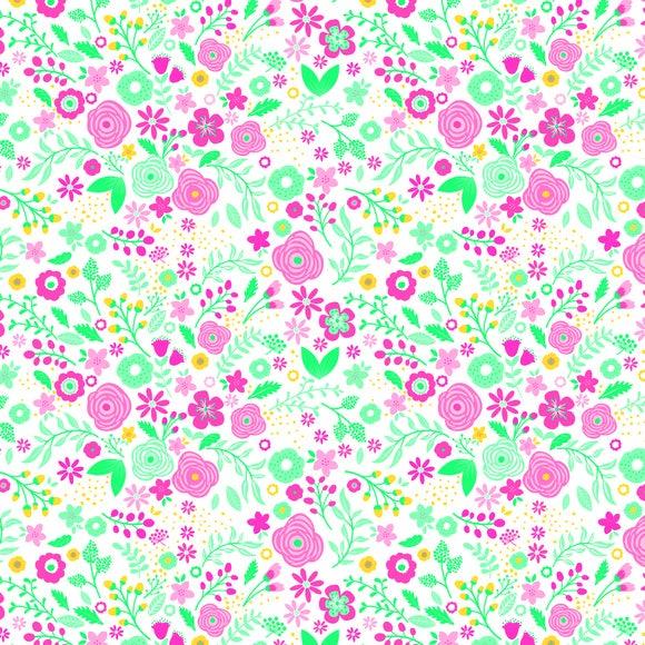 Achat en ligne 20 Serviettes fleurettes eclatantes 33x33 cm