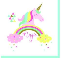 acquista online Tovaglioli di carta motivo unicorno, 20pz. 33x33 cm