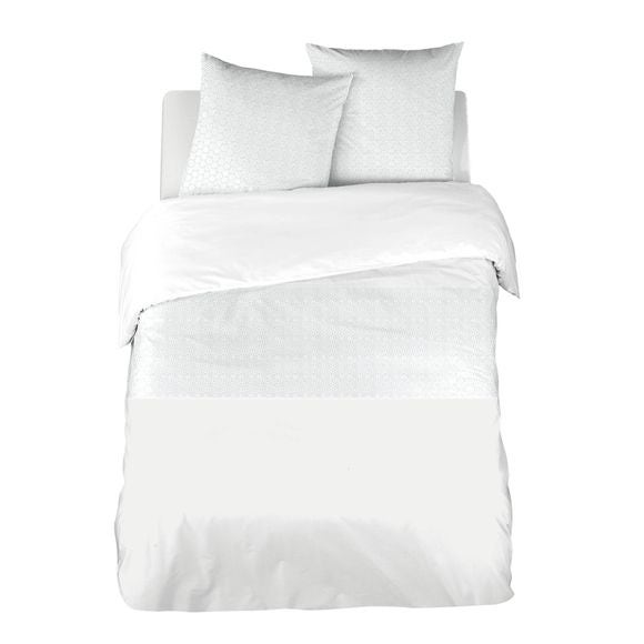 acquista online Copripiumino in percalle ricamato bianco, 240x220cm