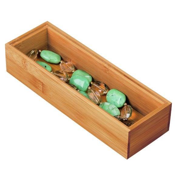 Organiseur tiroir en bambou 22,8x7,6x5,1 cm