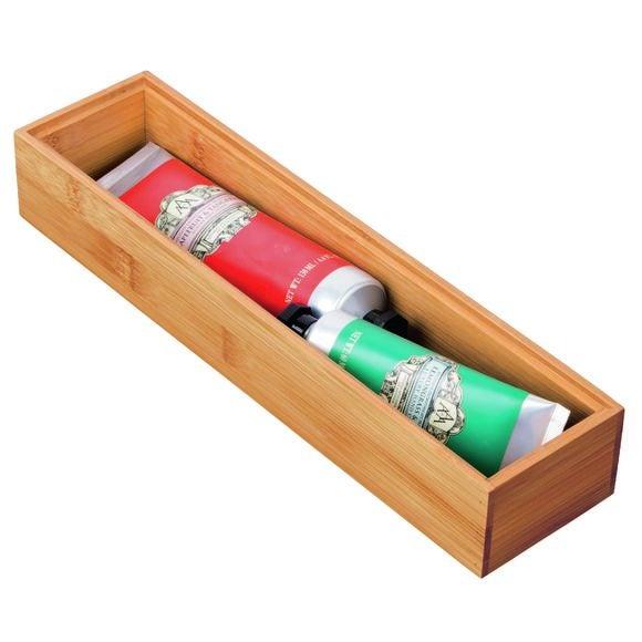 Porta utensili in bambù per cassetti 30,4x7,6x5,1cm