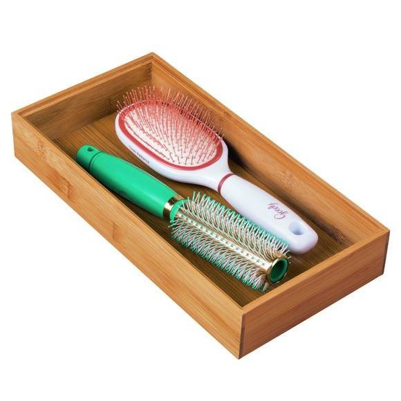 Organiseur tiroir en bambou 30,4x15,2x5,1 cm