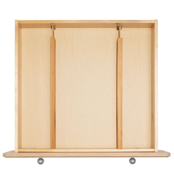 Separatori estensibili in bambù per cassetti 2pz 57,6x6,5x3,9cm
