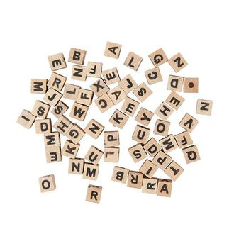 RICO DESIGN - Perles cubes alphabet bois