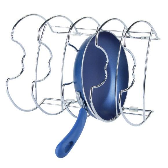 Porta pentole da cucina in acciaio cromato 27,9x23,1x19,8cm