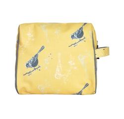 Achat en ligne Trousse de toilette coton enduit jaune 20x10x18cm