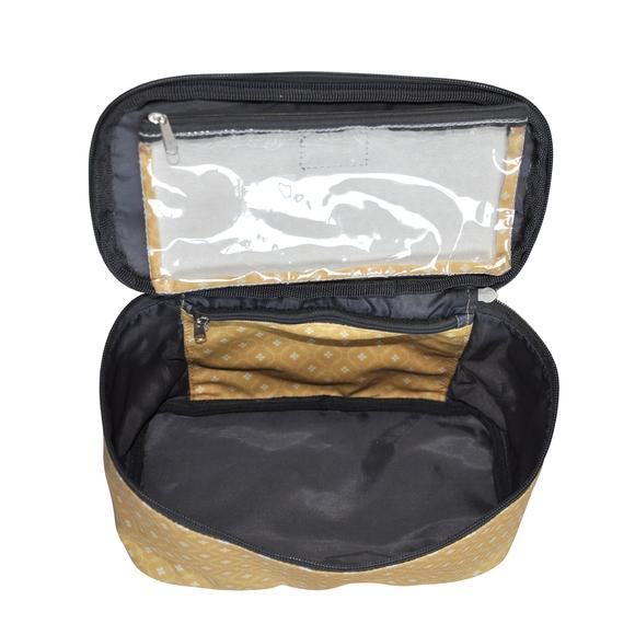 Achat en ligne Trousse de toilette en coton enduit jaune 25x12x14cm