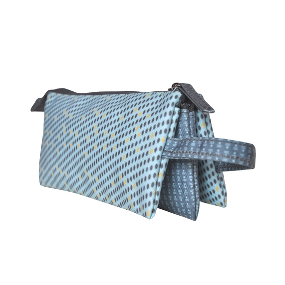 acquista online Trousse in cotone rivestito blu scuro 25x12x14cm