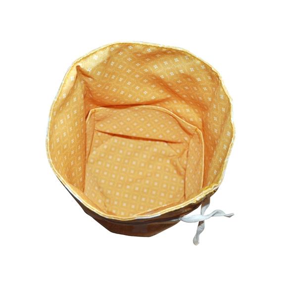 Achat en ligne Trousse de toilette en coton enduit jaune 20xH28cm