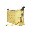 Trousse de toilette en coton enduit jaune 22x7x14cm
