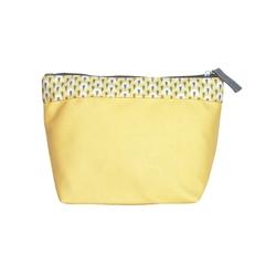Achat en ligne Trousse de toilette en coton enduit jaune 22x14x12cm