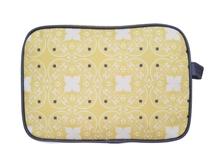 Achat en ligne Trousse de toilette en coton enduit jaune 27x18x12cm