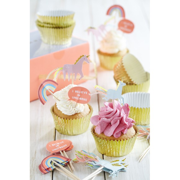 Set cupcake unicorni