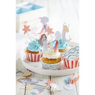 Kit cupcakes sirène