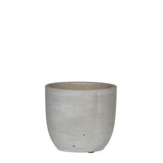 Cache pot gris béton cliff d12.5xh11cm