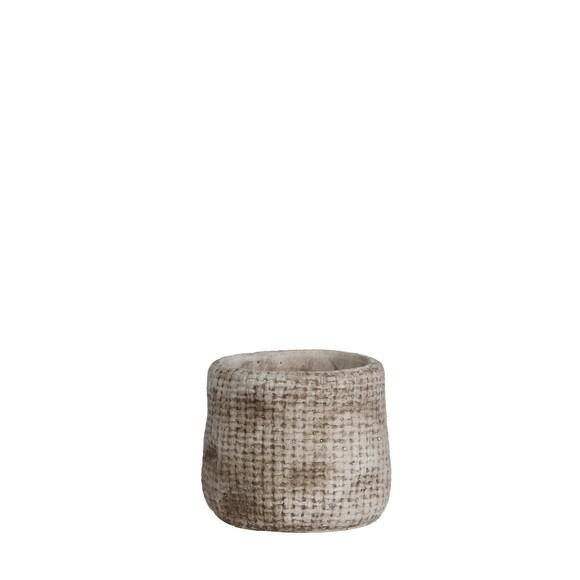 Achat en ligne Cache pot beige Kyan d10.5xh9cm