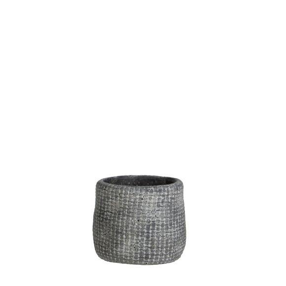 Achat en ligne Cache pot gris Kyan d10.5xh9cm