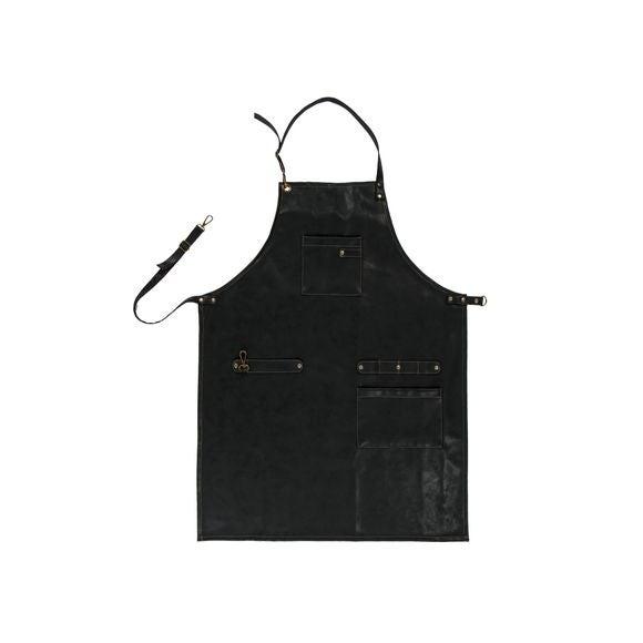 Tablier simili cuir noir 64x85 cm