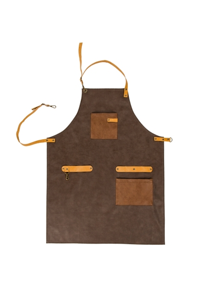 Achat en ligne Tablier simili cuir brun 64x85 cm