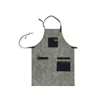 Tablier simili cuir gris 64x85 cm