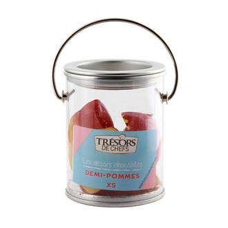 TRESORS DE CHEFS -Décor Chocolat Blanc 5 Demi Pommes