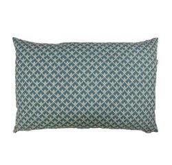 compra en línea Cojín estampado cola pavo real azul punta dorada (40 x 60 cm)