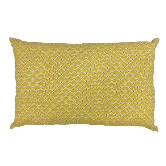 Achat en ligne Coussin écailles jaune pointe dorée 40x60cm