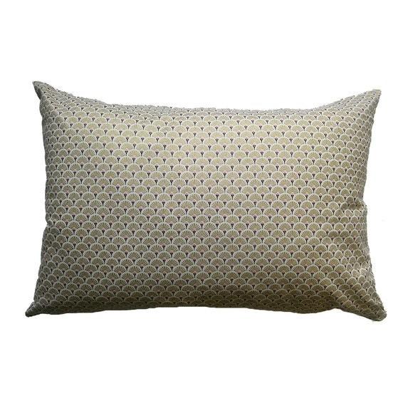 Cuscino rettangolare in cotone oro decori rosa 40x60cm