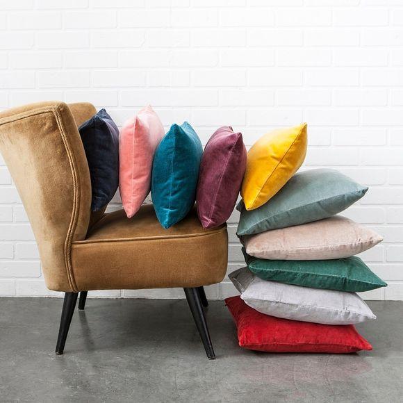 Fodera per cuscino quadrata in velluto viola 40x40cm