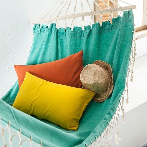 Fodera cuscino rettangolare in cotone delavé giallo