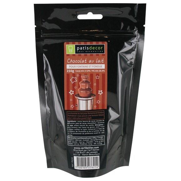 compra en línea Chocolate con leche para fondue Patisdecor (250 gr)