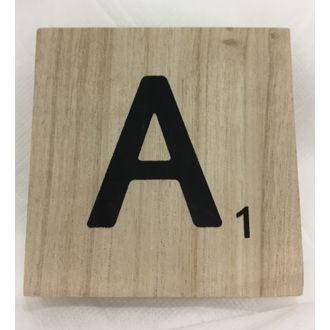 Lettre a scrabble en bois 10x10x0,6cm