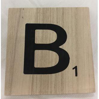 Lettre b scrabble en bois 10x10x0,6cm