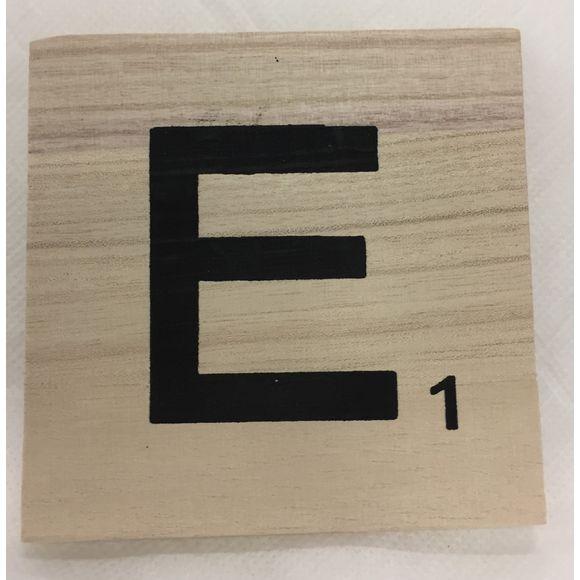Lettera scarabeo E legno 10x10x0,6cm
