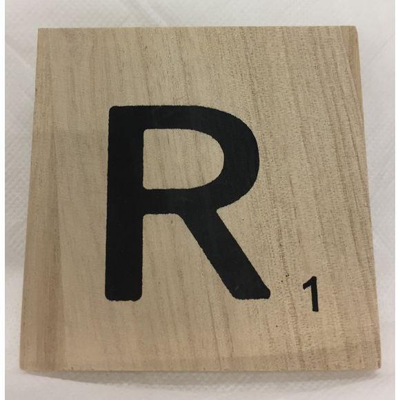 Lettera scarabeo R legno 10x10x0,6cm
