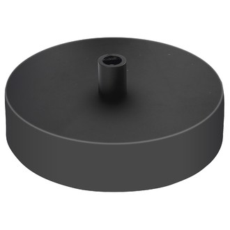 Plafonnier 1 sortie acier noir 10cm