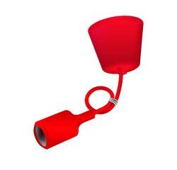 Achat en ligne Monture silicone rouge cable 60cm douille E27