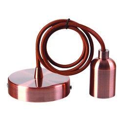 Achat en ligne Suspension métal cuivre cable 2m douille E27
