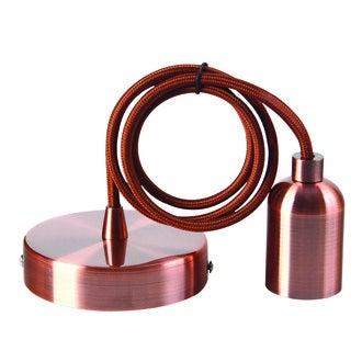 Suspension métal cuivre cable 2m douille E27