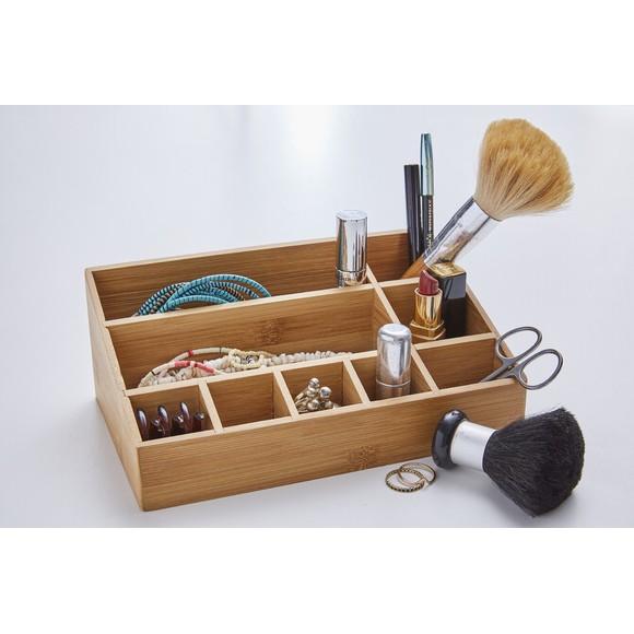 Organizzatore a 9 scomparti in bambù 23,5x14x3x9cm