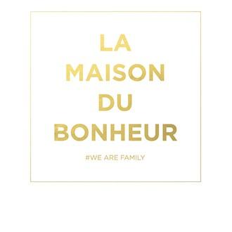 Carte pola colorchic la maison du bonheur 10x12cm texte doré